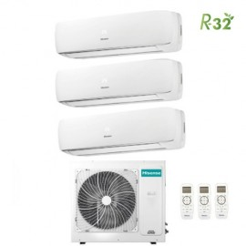 Climatizzatore Condizionatore Hisense Trial Split Inverter Mini Apple Pie R-32 9000+12000+12000 con 3AMW70U4RAA A++ Wi-Fi Optional NEW