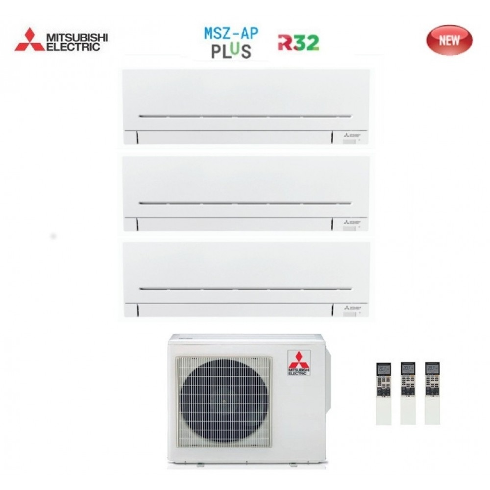 Climatizzatore Condizionatore Mitsubishi Electric Trial Split Inverter MSZ-AP R-32 7000+7000+7000 con MXZ-3F54VF NEW 7+7+7