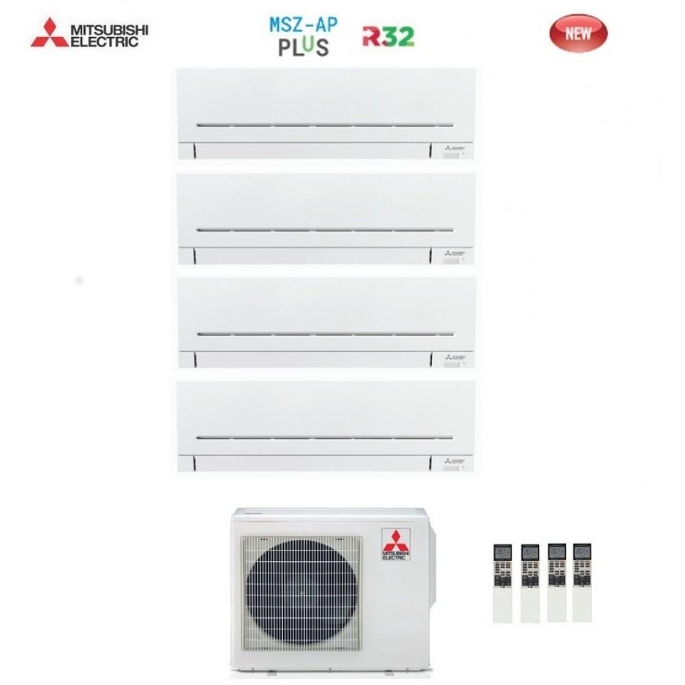 Climatizzatore Condizionatore Mitsubishi Electric Quadri Split Inverter MSZ-AP R-32 9000+9000+9000+12000 con MXZ-4F72VF NEW 9+9+9+12