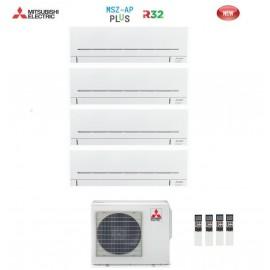 Climatizzatore Condizionatore Mitsubishi Electric Quadri Split Inverter MSZ-AP R-32 9000+9000+12000+12000 con MXZ-4F72VF NEW 9+9+12+12