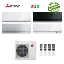 Climatizzatore Condizionatore Mitsubishi Electric Quadri Split Inverter MSZ-EF Kirigamine Zen R-32 9000+9000+12000+12000 con MXZ-4F72VF NEW 9+9+12+12