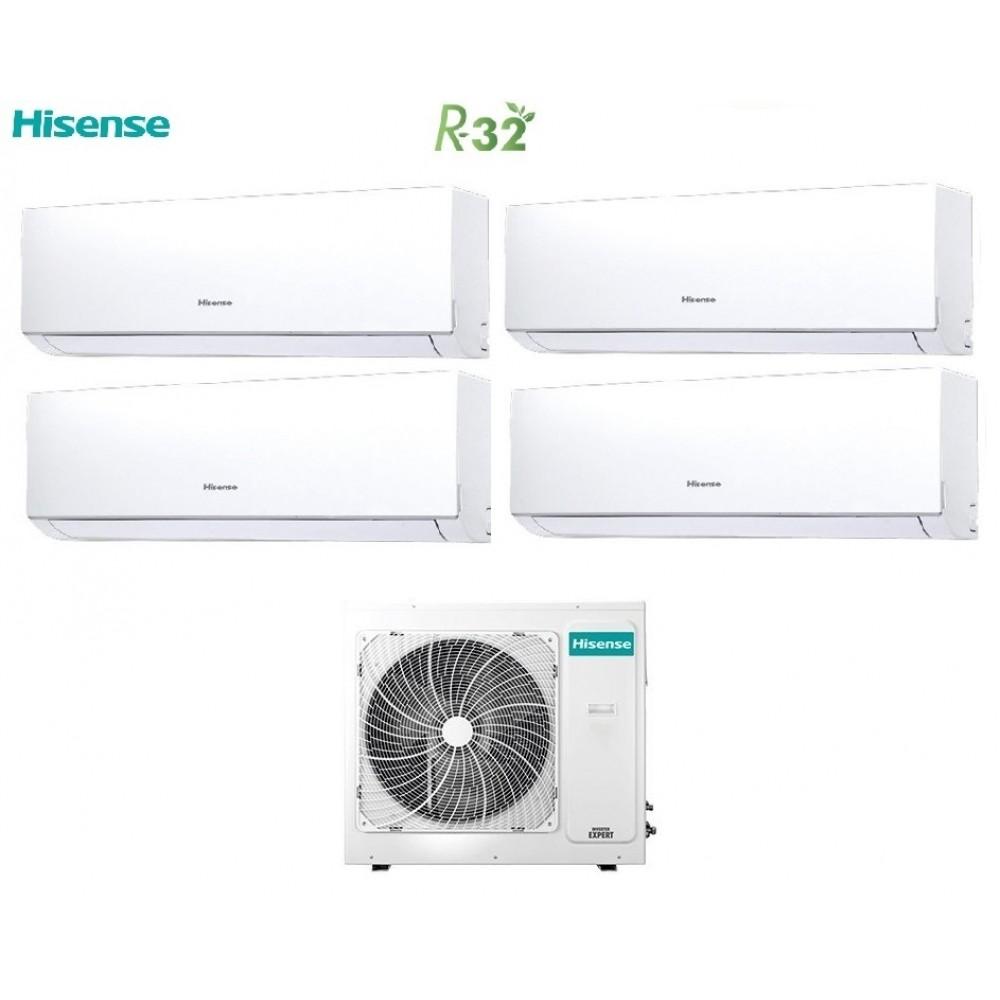 Climatizzatore Condizionatore Hisense Quadri Split Inverter New Comfort R-32 9+9+9+9 con 4AMW105U4RAA A++ Wi-Fi Optional NEW