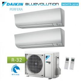 CLIMATIZZATORE CONDIZIONATORE DAIKIN Bluevolution DUAL SPLIT INVERTER serie PERFERA FTXM R-32 9000+15000 con 2MXM50M/M9