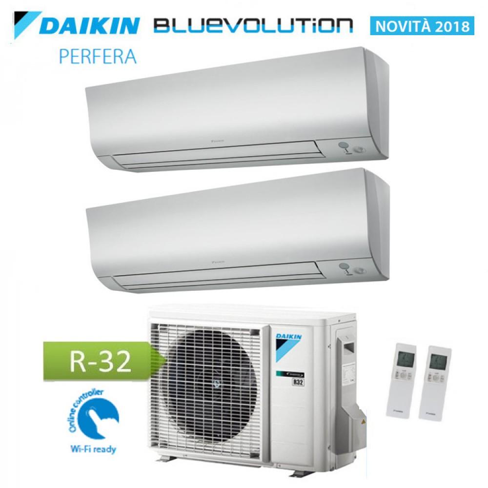 CLIMATIZZATORE CONDIZIONATORE DAIKIN Bluevolution DUAL SPLIT INVERTER serie PERFERA FTXM R-32 9000+18000 con 2MXM50M/M9