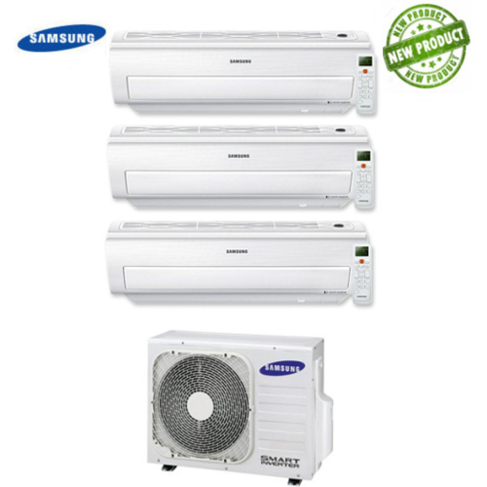 Climatizzatore Condizionatore Samsung Inverter Trial Split AR5500M Smart Wi-Fi 7000+9000+12000 con AJ052MCJ 7+9+12 A+/A