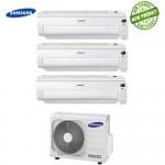 Climatizzatore Condizionatore Samsung Inverter Trial Split AR5500M Smart Wi-Fi 9000+9000+9000 con AJ052MCJ 9+9+9 A+/A