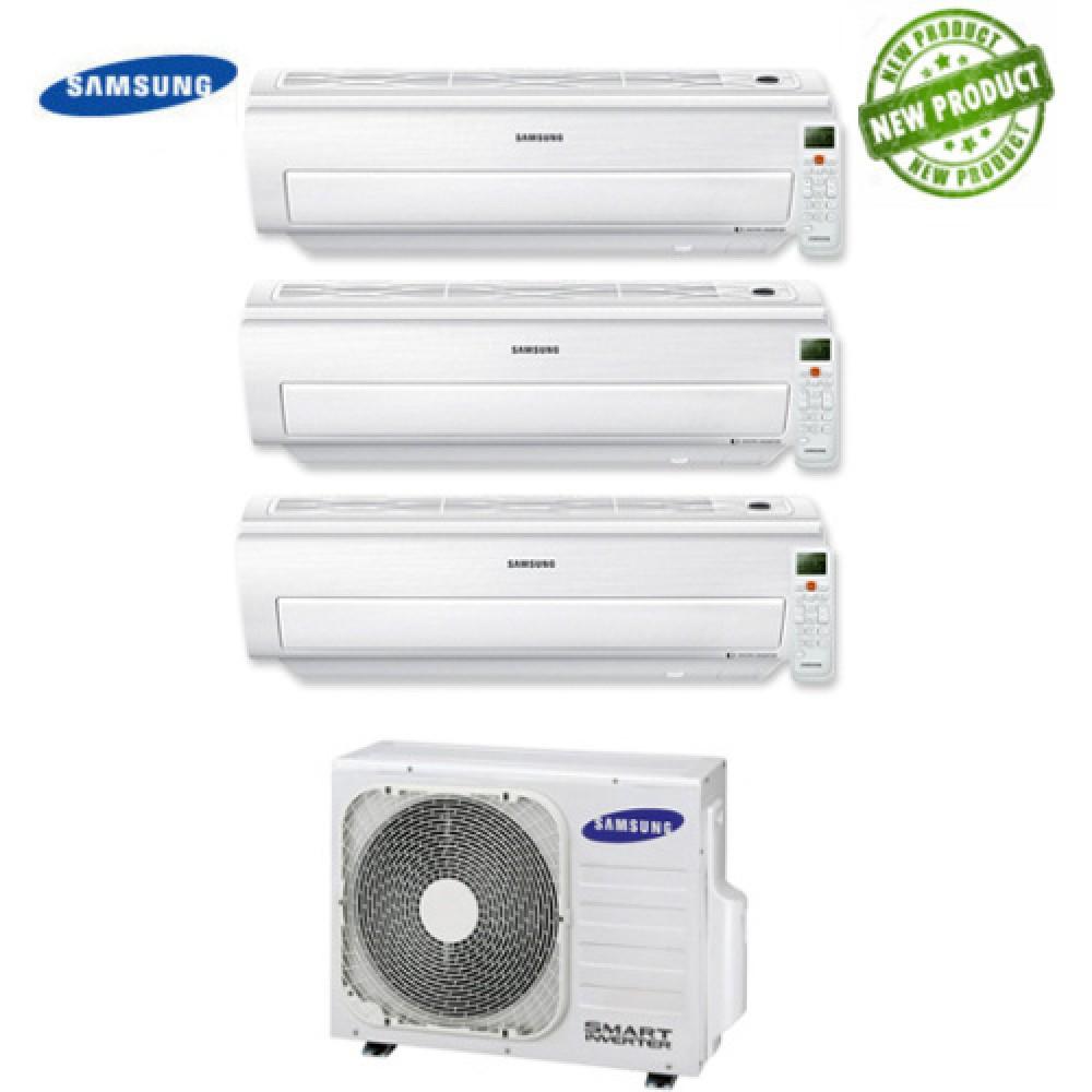 Climatizzatore Condizionatore Samsung Inverter Trial Split AR5500M Smart Wi-Fi 9000+9000+12000 con AJ052MCJ 9+9+12 A++/A+