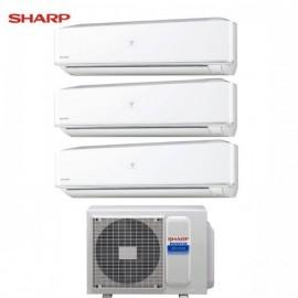 CLIMATIZZATORE CONDIZIONATORE SHARP TRIAL SPLIT INVERTER serie PHR 7+9+12 con AE-X3M18JR