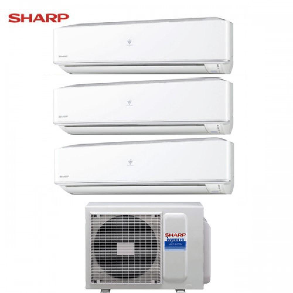 CLIMATIZZATORE CONDIZIONATORE SHARP TRIAL SPLIT INVERTER serie PHR 9+9+9 con AE-X3M18JR