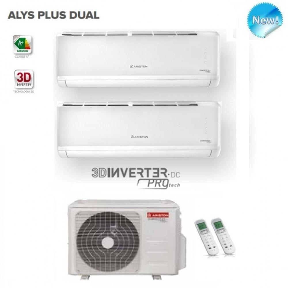 CLIMATIZZATORE CONDIZIONATORE ARISTON DUAL INVERTER ALYS PLUS 9000+12000 BTU con unità esterna 55 XD0B-O