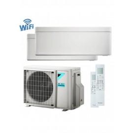 CLIMATIZZATORE CONDIZIONATORE DAIKIN Bluevolution DUAL SPLIT INVERTER Stylish White bianco R-32 Wi-Fi 9000+12000 con 2MXM40M