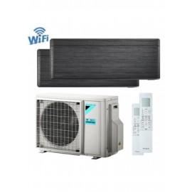 CLIMATIZZATORE CONDIZIONATORE DAIKIN Bluevolution DUAL SPLIT INVERTER Stylish Blackwood R-32 Wi-Fi 12000+12000 con 2MXM50M/M9