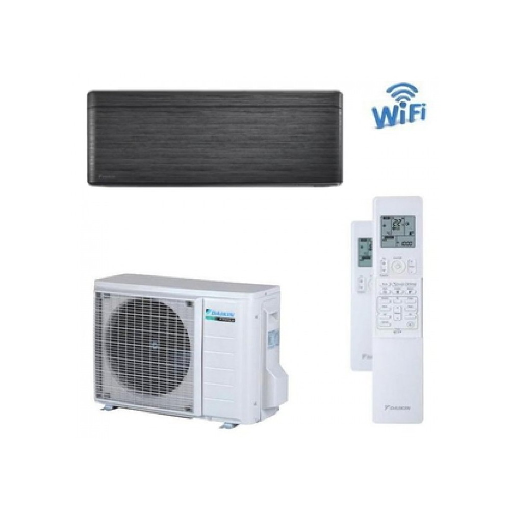 CLIMATIZZATORE CONDIZIONATORE DAIKIN Bluevolution INVERTER STYLISH BLACKWOOD 9000 btu Wi-Fi A+++ R-32 FTXA25AT