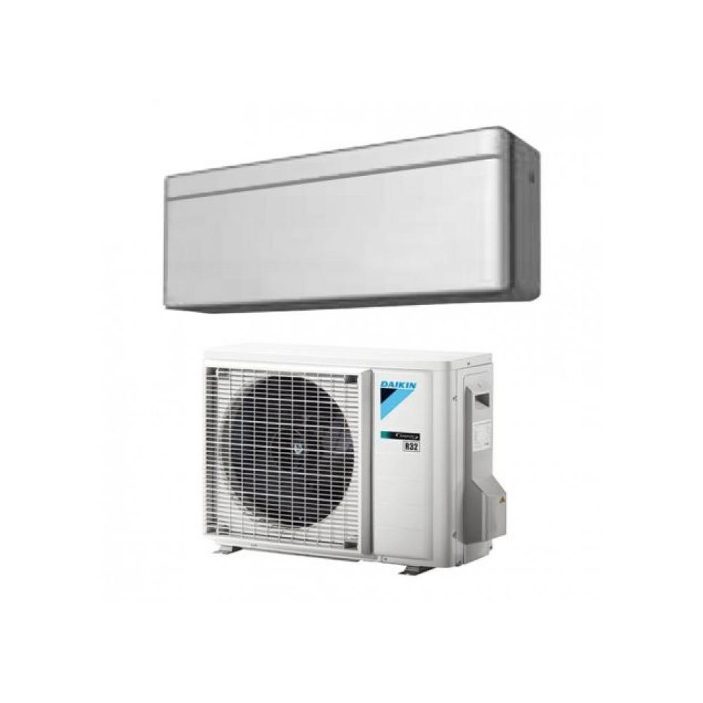 CLIMATIZZATORE CONDIZIONATORE DAIKIN Bluevolution INVERTER STYLISH SILVER 12000 btu Wi-Fi A+++ R-32 FTXA35AS + RXA35A