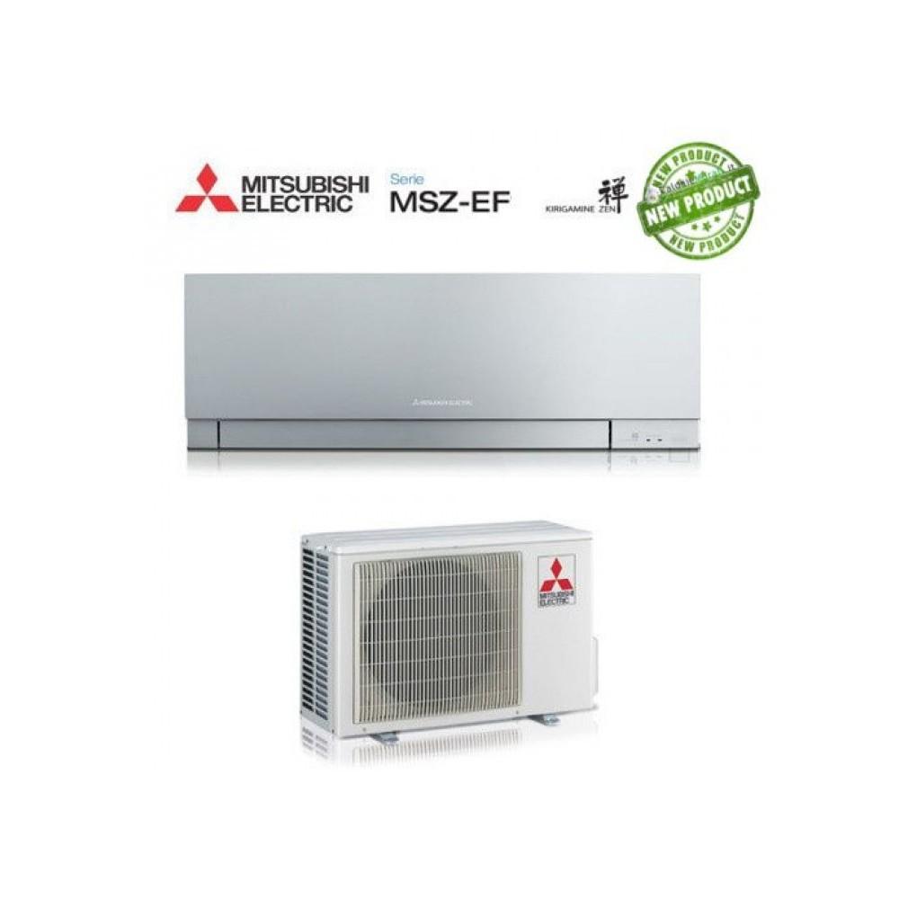 Climatizzatore Condizionatore Mitsubishi Electric Inverter Kirigamine Zen 9000 Btu Msz-Ef25ve3s Silver A+++